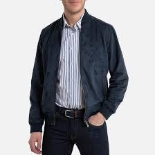 <b>Куртка</b>-<b>бомбер</b> из искусственной замши синий морской <b>La</b> ...