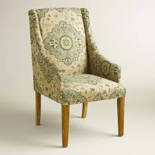 Padding For Dining Room Chairs Two Tone Accent Upholstsred Wingback Chair With Light Brown