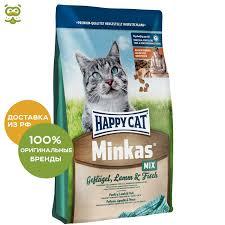 <b>Happy Cat Minkas</b> adult cat food, Bird, lamb, fish, 1.5 kg.|Cat Dry ...