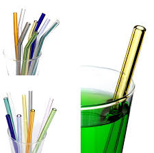 <b>New</b> Transparent Glass <b>Straws</b> Colour Heat Resistant High ...