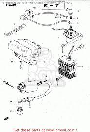 suzuki gs125 1982 z general export united kingdom e01 e02 electrical gs125esz ez esd esf esk esl esm esr schematic