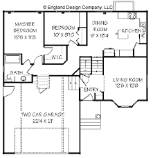 Simple One Story House Floor Plans  single level home floor plans    Home Level Split House Plans