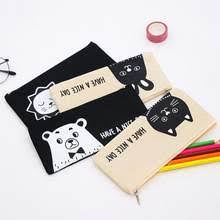 Online Shop <b>1pcs</b>/<b>lot</b> Chinchilla Zipper Bag Canvas Pen Case <b>Cute</b> ...