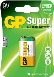 Купить <b>батарейку</b> аккумулятор <b>GP Super Alkaline</b> 1604 (Крона, 9V ...