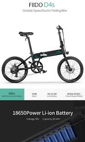 <b>Fiido D4S</b> 250w <b>Foldable</b> 20in Electric Bicycle, Sports, Bicycles on ...