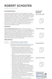 banking resume samples   visualcv resume samples databaseinternet banking support analyst resume samples