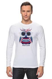 <b>Лонгслив</b> Сова (<b>Owl</b>) #1296861 от printik по цене 1 256 руб. в ...