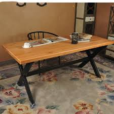 american country old wood vintage wrought iron table and wood home office desk solid wood american country wrought iron vintage desk
