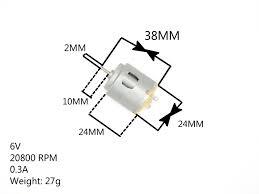 Free shipping <b>260</b> DC motor <b>2 mm</b> diameter of axle: Axial length ...