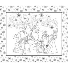 Fabric CA441 <b>Disney</b> Frozen Color Book Page White Camelot <b>100</b> ...