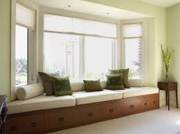 window seat in bay window 3 separate cushions make it more affordable than one long cushion pull out drawers add space for excellent storage solutions bay window seat cushion