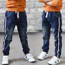 Hot Sale <b>2018</b> Autumn <b>New Kids</b> Jeans Elastic Waist Stretch <b>Denim</b> ...