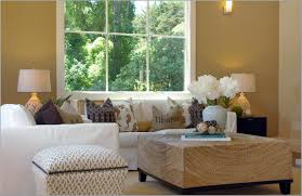 chic coastal family room interior design with white sofa also chic family room decorating