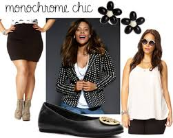 plus size fashion ways to dress for success college fashion monochrome chic
