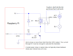 raspberry pi driving a relay using gpio susanet schematic for a relay