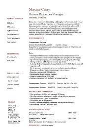 human resources manager resume job description template sample hr consultant job description