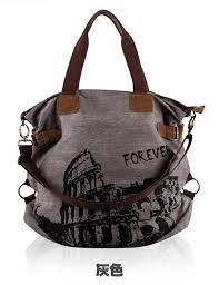 <b>Womens</b> Vintage Canvas <b>Casual Tote Handbag</b> Shoulder Cross ...