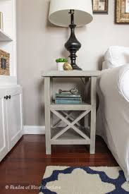 ideas bedside tables pinterest night: simple gray x tall nightstand bedside table ideas how to make build farmhouse style pretty white
