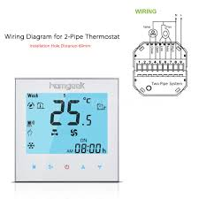 homgeek 110~240v wifi air conditioner 2 pipe thermostat lcd 240v Thermostat Wiring a durable and reliable mini 2 pipe wifi smart thermostat that designed to on off control the fans and valves in the air conditioner applications via wiring 240v thermostat
