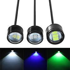 12V <b>Motorcycle</b> Handlebar <b>LED</b> Headlights Running Spotlight Blue ...