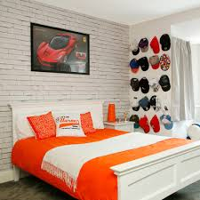 Orange Bedroom Wallpaper Teenage Boys Bedroom Ideas For Sleep Study And Socialising