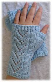 Cables & Lace Wrist Warmers pattern by <b>Knitwits</b> Heaven (с ...