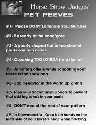 top horse show judges pet peeves equine chronicle pinworthy