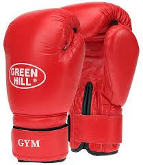 """<b>Перчатки боксерские Green Hill</b> """"Gym"""", цвет: красный. Вес 10 унций"""