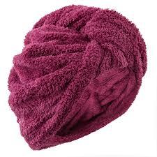 <b>Полотенце из мягкой микрофибры</b> для волос фиолетовоеu