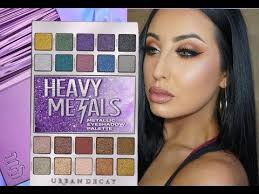 <b>URBAN DECAY HEAVY METAL</b> PALETTE TUTORIAL - YouTube