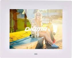 <b>Цифровая фоторамка Digma PF-833</b> белый — купить в интернет ...