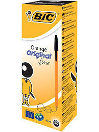 <b>Ручка шариковая BIC</b> Orange черная, 20 штук BIC 666125 в ...