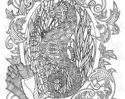 Small Picture Seahorse coloring Etsy