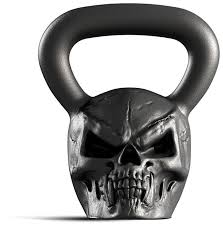 Купить <b>Гиря</b> цельнолитая <b>Iron Head</b> Череп 16 кг по низкой цене с ...