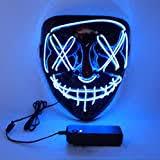<b>Carnival</b> Blue Gift Games <b>Halloween</b> LED Purge Mask AUGOLA ...