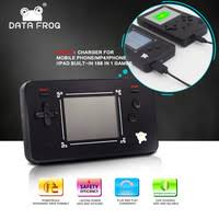 data frog handheld game players with 4 3 inch hd screen 32bit portable consoles for ps1 gba copy file 8gb