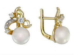 золотые <b>серьги с жемчугом</b> - Купить недорого часы и украшения ...