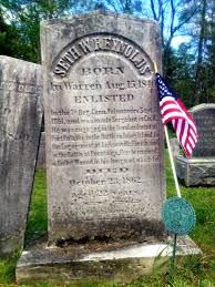 john banks civil war blog connecticut memorial day photo essay memorial day even the cause of death is provided on 7th connecticut sergeant seth w reynolds marker in warren cemetery a bullet wound to the