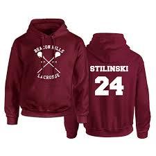 <b>Teen Wolf Hoodie Men</b> Stilinski 24 Lahey McCall Pullover ...