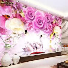 <b>beibehang Custom photo wallpaper</b> mural red rose petal tv ...