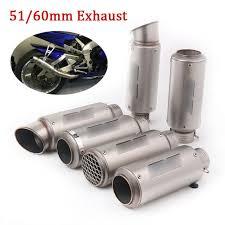 245mm Universal <b>Stainless Steel Motorcycle Bike</b> Exhaust Muffler ...