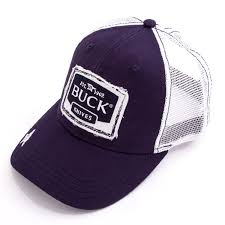 ≡ <b>Бейсболка Buck Navy Logo</b> Patch Cap сине-белая (89123 ...