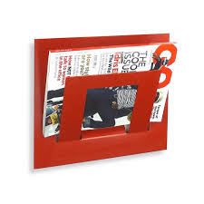 magazine rack wall mount: simplistic wall mounted handmade magazine holder for space saving accesories reading room decors