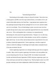 genetic engineering essaysgenetic engineering research paper   team a research paper the      pages biotechnology