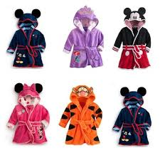 Children Print Gown Sale Boys Girls Clothing Robes Hooded ...