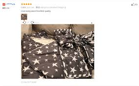 Muslinlife серое <b>постельное</b> белье со звездами набор ...