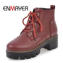 enmayer suede woman ankle boots for women winter snow size 34 39 warm flowers low heels shoes women embroidered cr1985
