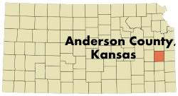 Image result for Anderson County Map KS
