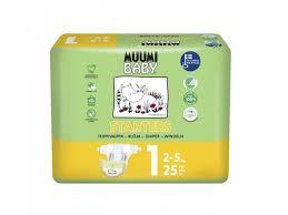 <b>Подгузники Muumi Baby Newborn</b> 1 2-5 кг, 25 шт. купить в ...