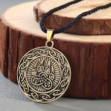 CHENGXUN Viking Kot Celtic Infinity Bear Pendant Men Necklace ...